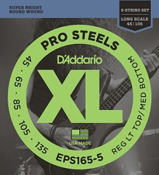 45-135 D'Addario EPS165-5 String ProSteels