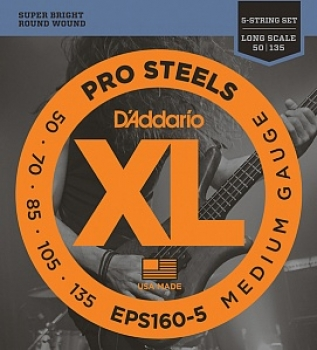 50-135 D'Addario EPS160-5 String ProSteels